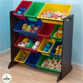 KidKraft Sort it and Store It Bin Unit in Espresso
