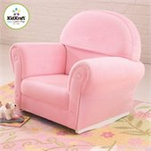 KidKraft Pink Velour Rocker with Slip Cover (no ottoman)