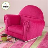 KidKraft Bubblegum Velour Rocker with Slip Cover (no ottoman)