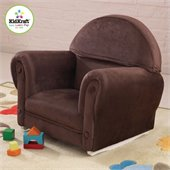 KidKraft Chocolate Velour Rocker with Slip Cover (no ottoman)