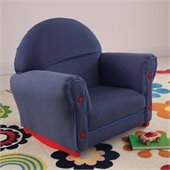 KidKraft Denim Rocker with Slip Cover in Denim