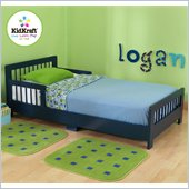 KidKraft Slatted Toddler Cot in Blueberry