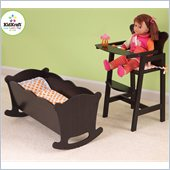 Kidkraft Lil Doll High Chair in Espresso