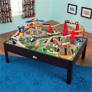KidKraft Airport Express Train Set and Table in Espresso