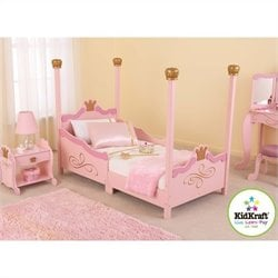 Kidkraft Princess Girls Toddler Bed In Pink Picture