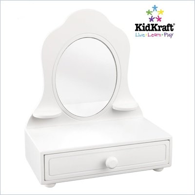 KidKraft White Tabletop Vanity
