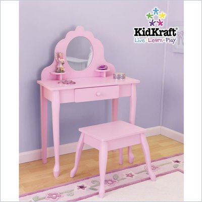 KidKraft Medium Diva Table &amp; Stool in Pink