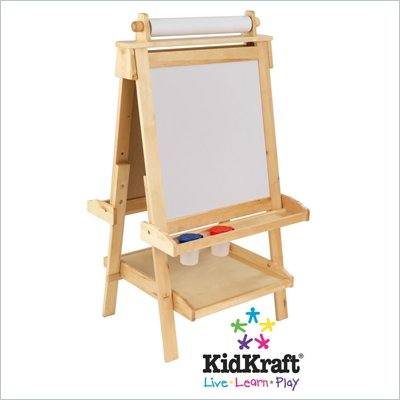 KidKraft Deluxe Wood Easel with Paper Roll