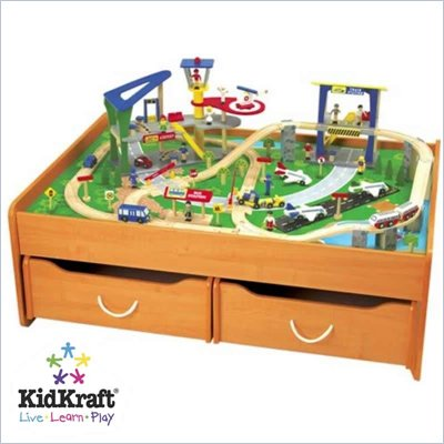 KidKraft Train Table in Honey