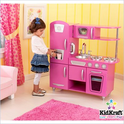 KidKraft Vintage Play Kitchen in Bubblegum