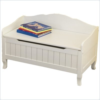 KidKraft Nantucket Wood Toy Chest/Box in White