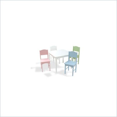 KidKraft Nantucket Table and 4 Chair Set in Pastel