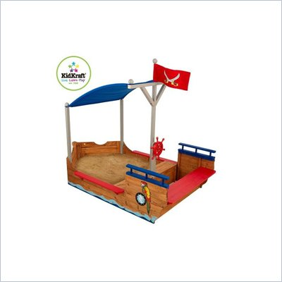 KidKraft Pirate San Boat Kids Play Sandbox