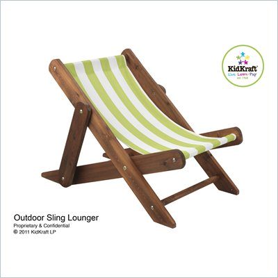 KidKraft Outdoor Sling Lounger in Espresso