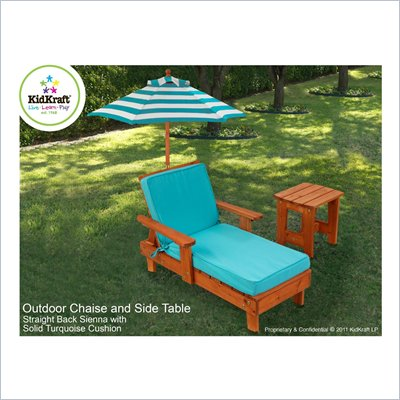 KidKraft Under the Sun Chaise with Umbrella and Table