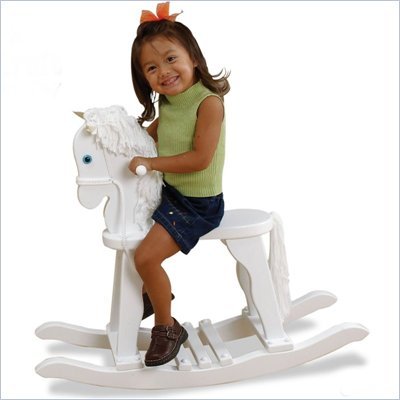 KidKraft Derby Toy Rocking Horse in White