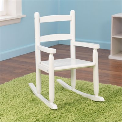 KidKraft 2-Slat Rocking Chair in White