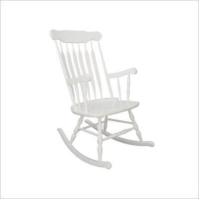 KidKraft Hill Country Rocker in White (Adult Rocking Chair)