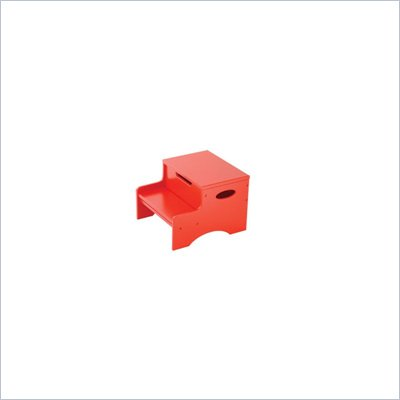 KidKraft Step 'n Store Kids Step Stool in Red
