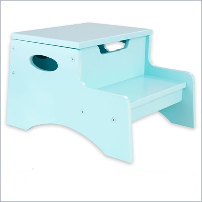 KidKraft Step 'n Store Kids Step Stool in Ice Blue