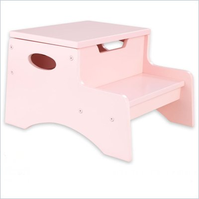 KidKraft Step 'n Store Kids Step Stool in Petal