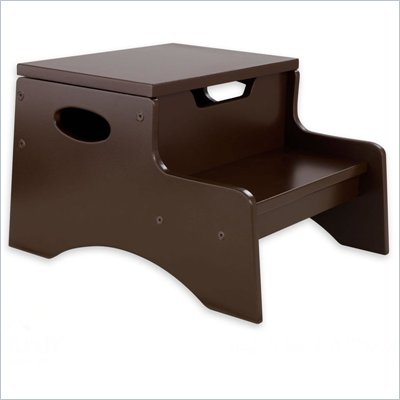 KidKraft Step 'n Store Kids Step Stool in Chocolate