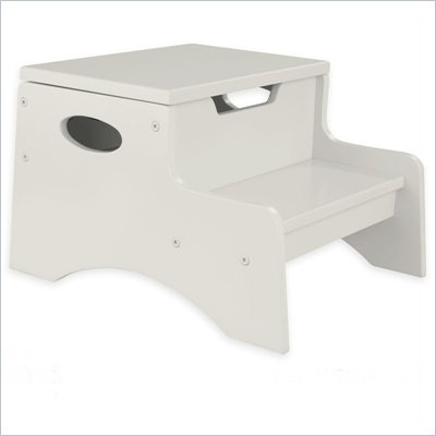 KidKraft Step 'n Store Kids Step Stool in Vanilla