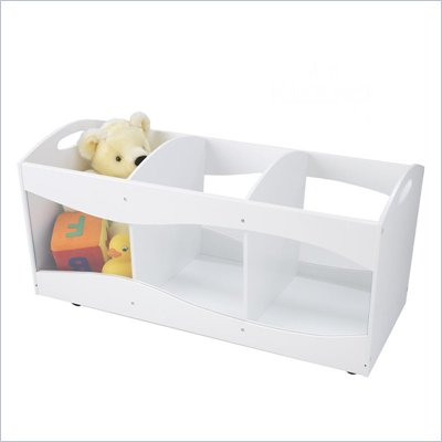 KidKraft See-Thru Storage Bin in White