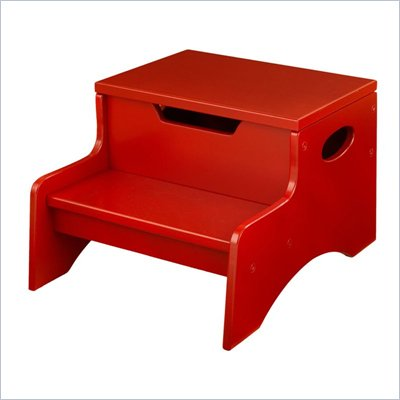 KidKraft Step 'N Store Step Stool in Cranberry