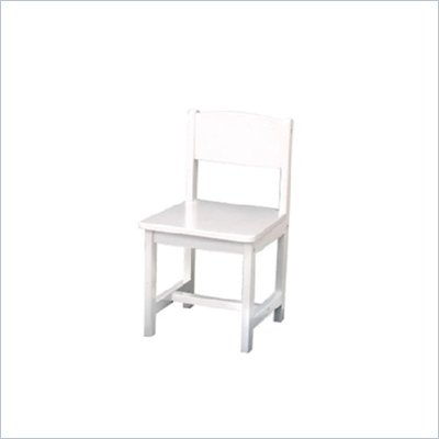 KidKraft Aspen 12&quot; Single Wood  Seating Chair in White