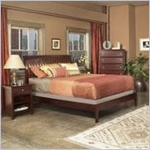 Modus Newport Low Profile Wood Sleigh Bed 2 Piece Bedroom Set