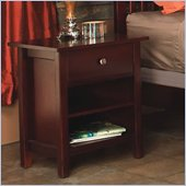 Modus Newport 1 Drawer Nightstand in Cordovan