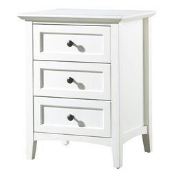 Modus Paragon 3 Drawer Nightstand in White