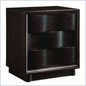 Modus Maui Wave Three Drawer Nightstand in Chocolate Brown
