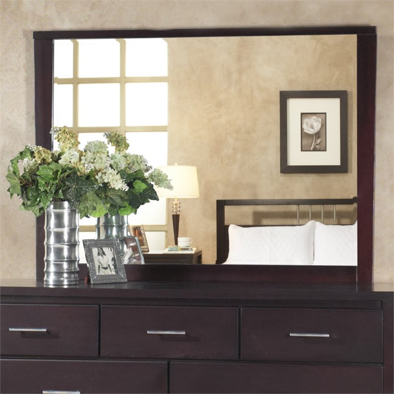 Modus Furniture NV2383LG - Nevis Landscape Mirror: NV2383LG Wall Mirro