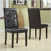 Modus Urban Seating Tufted Leatherette Parson Chairs in Chocolate (Set of two)