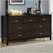 Modus Urban Loft Seven Drawer Dresser in Dark Wood