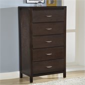 Modus Urban Loft 5 Drawer Chest in Chocolate Brown Finish