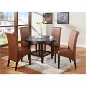 Modus Bossa 48 Inch Round Casual Dining Table in Dark Chocolate Finish