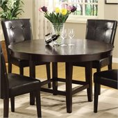 Modus Bossa 54 Inch Round Dining Table in Dark Chocolate