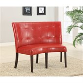 Modus Bossa Dining Height Banquette in Red Leatherette