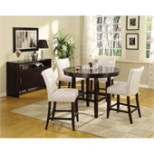 Modus Bossa 48 Inch Round Counter Height Dining Table in Dark Chocolate Finish