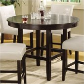 Modus Bossa 54 Round Counter Height Dining Table in Dark Chocolate