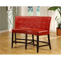 Modus Bossa Counter Height Banquette in Red Leatherette