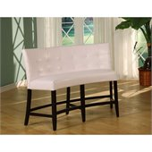 Modus Bossa Counter Height Banquette in White Leatherette