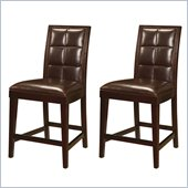 Modus Hudson Biscuit Back Leather Counter Stool in Coffee Bean (Set of 2)
