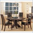 ADD TO YOUR SET: Modus Hudson Round X Base Casual Dining Table in Mocha Finish