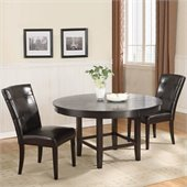 Modus Bossa 3 Piece 54 Inch Round Dining Table Set with Black Chairs