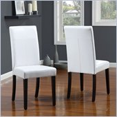 Modus Urban Seating Parsons Chairs in White Leatherette (set of 2)