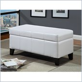 Modus Furniture International Urban Seating Storage Bench in White Leatherette